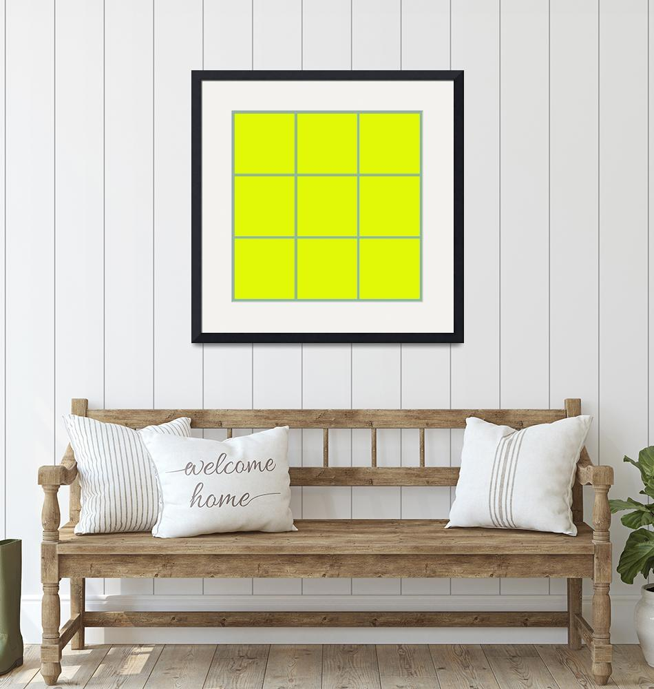 """Yellow Window 094 Canvas Contemporary Modern""  (2010) by Ricardos"
