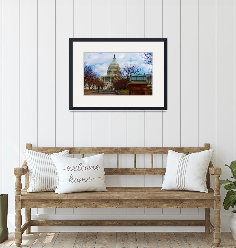 """""""The White House DC""""  (2004) by oilboy"""