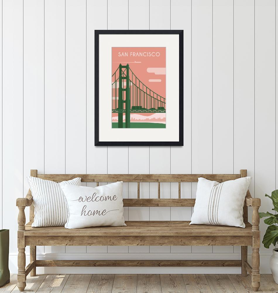 """""""Travel Poster of San Fracisco 199"""" by Arpina"""