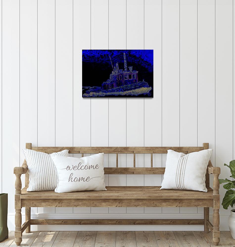 """Tug Boat _Electric""  (2010) by oltymestudio"
