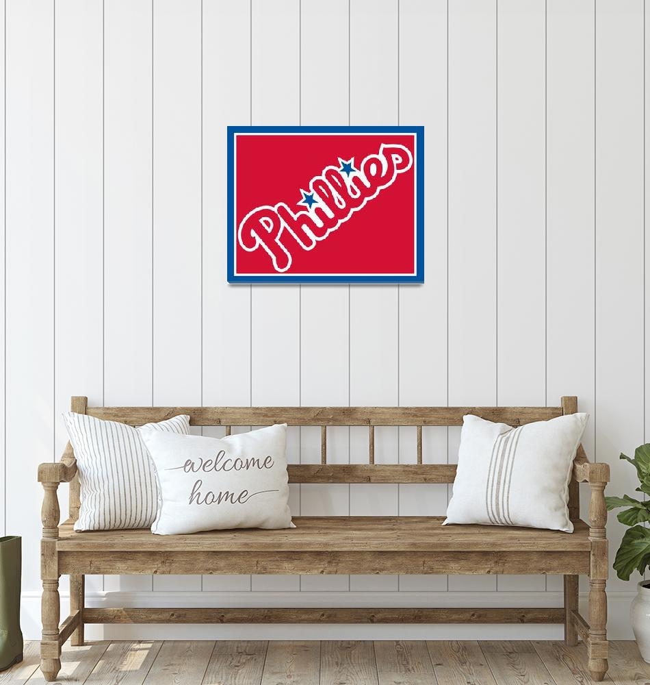 """Philadelphia Phillies Baseball""  by RubinoFineArt"