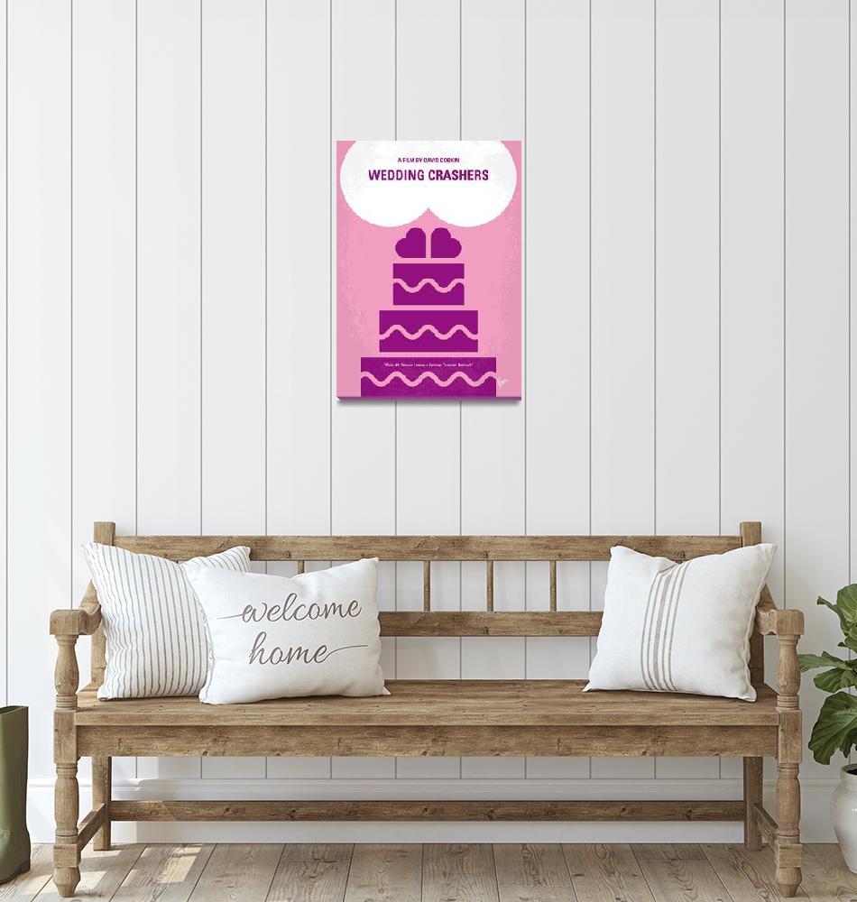 """No437 My Wedding Crashers minimal movie poster""  by Chungkong"