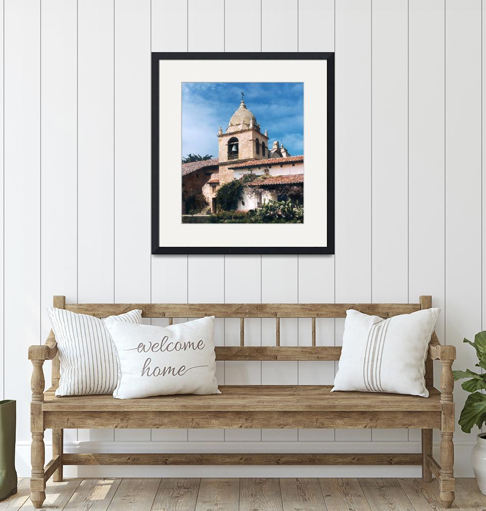 """""""Carmel Mission Tower"""" by worldwidearchive"""
