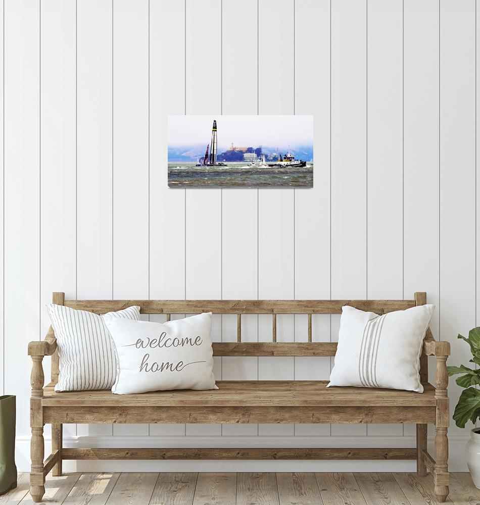 """Sail Free Americas Cup San Francisco Bay""  (2013) by Hear2heaL"