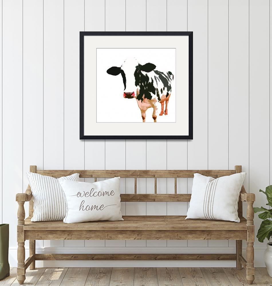 """Cow in White World""  (2009) by whitewallgallery"