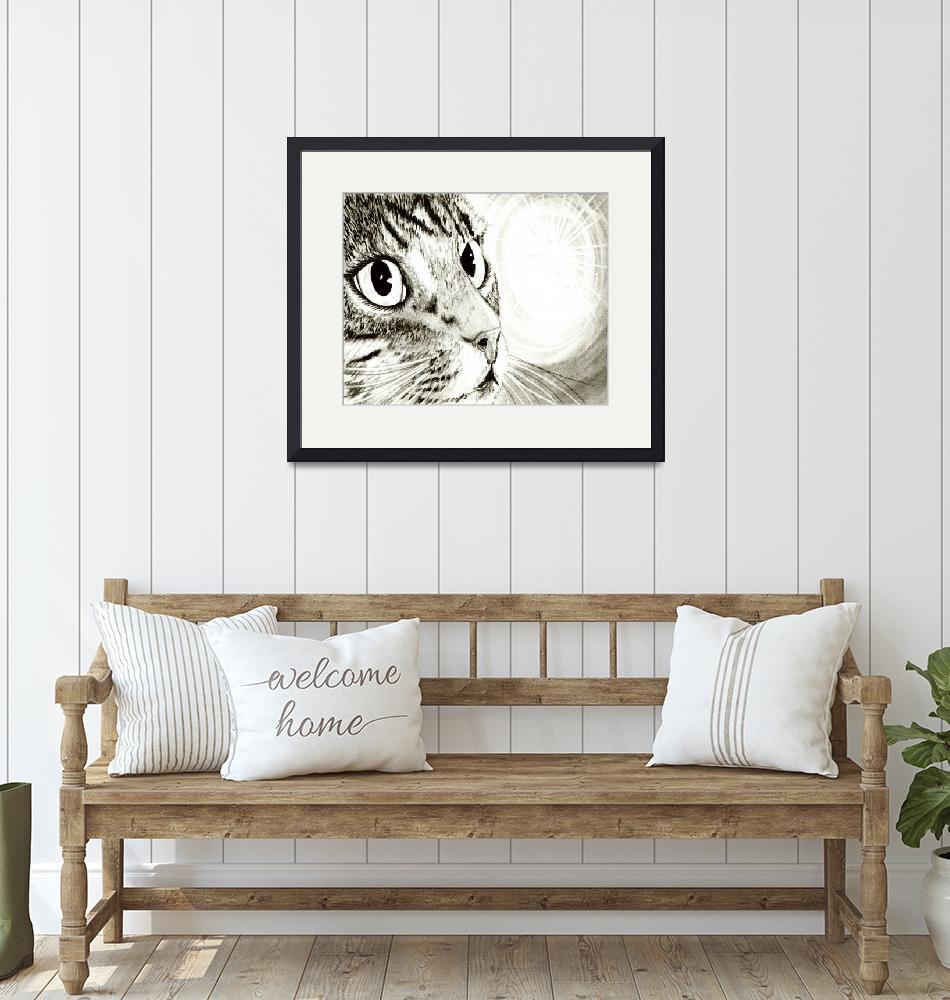 """""""Fairy Light - Tabby Cat Drawing""""  (2008) by tigerpixie"""