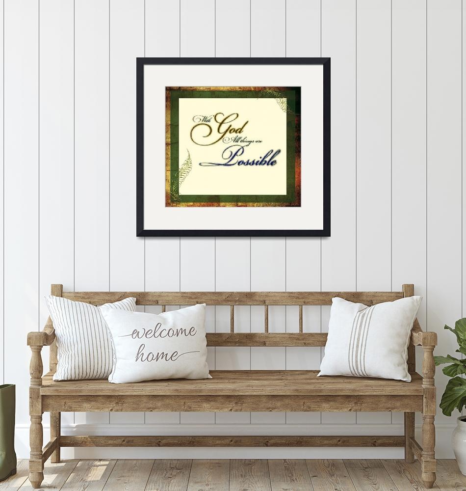 """""""with god frame green gold""""  by lizmix"""