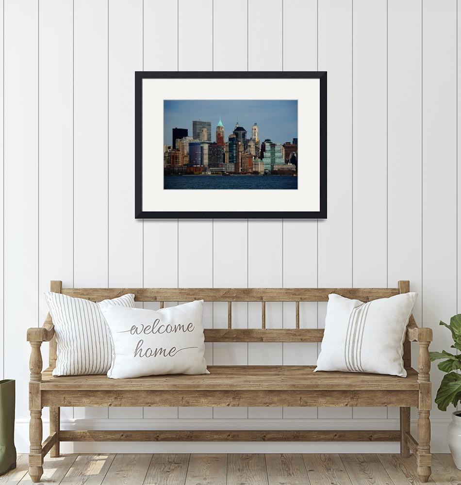 """""""New York City Skyline 2009""""  (2009) by Ffooter"""