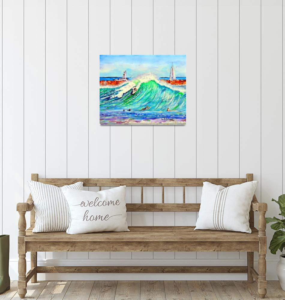 """The Wedge newport Beach CA""  (2014) by ArtbyLeclerc"