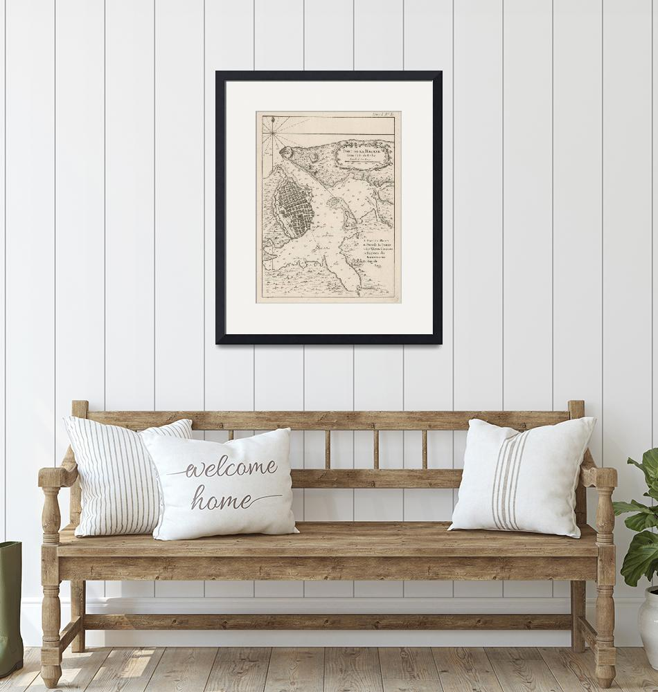 """Vintage Map of Havana Cuba (1764)""  by Alleycatshirts"