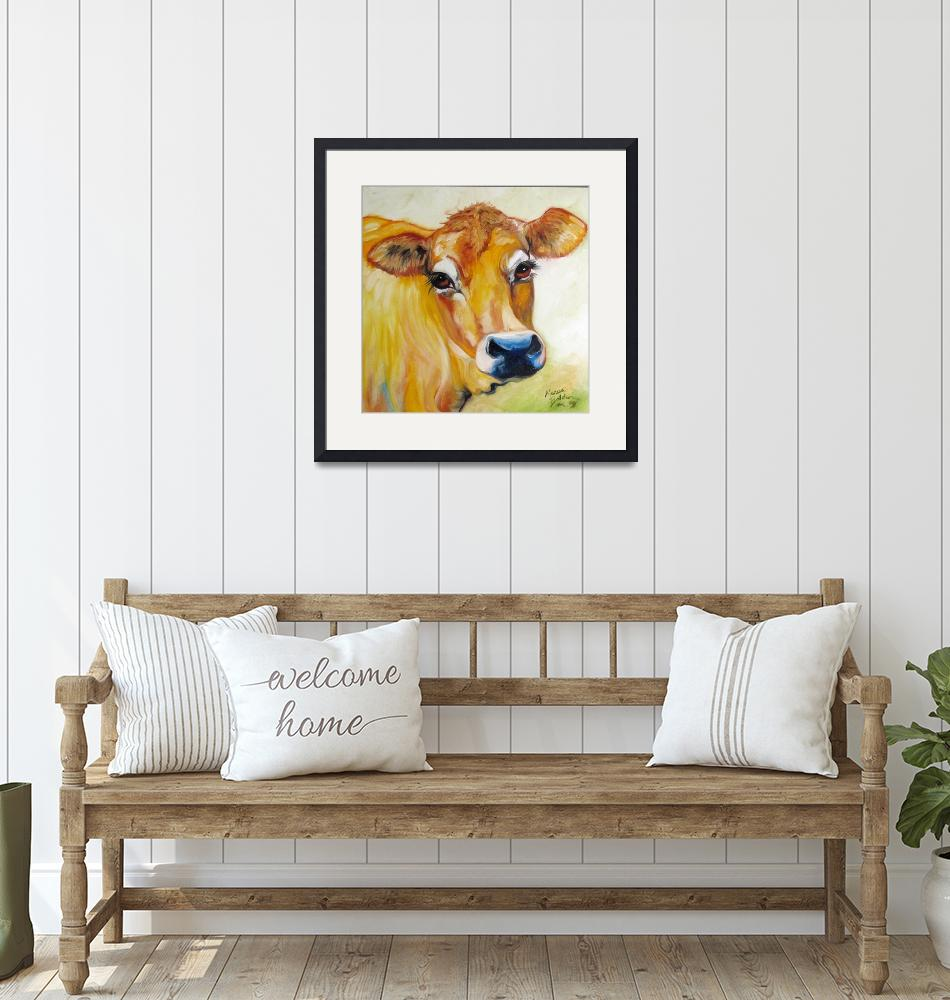 """""""THOSE EYES JERSEY COW""""  (2009) by MBaldwinFineArt2006"""