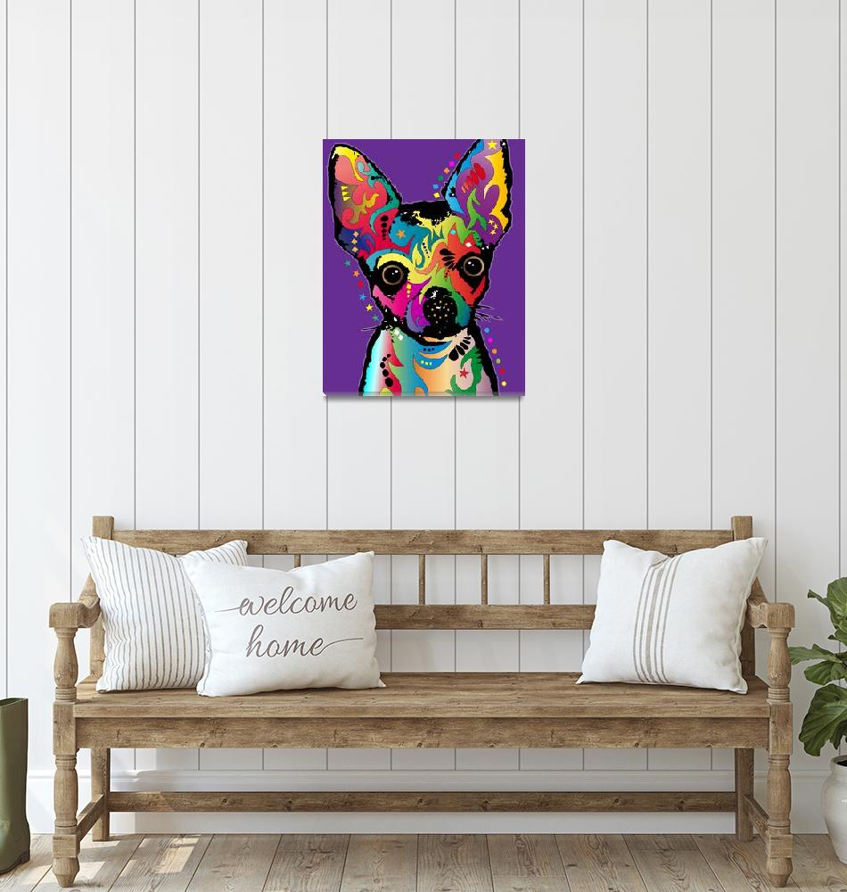 """Chihuahua Art""  (2011) by ModernArtPrints"