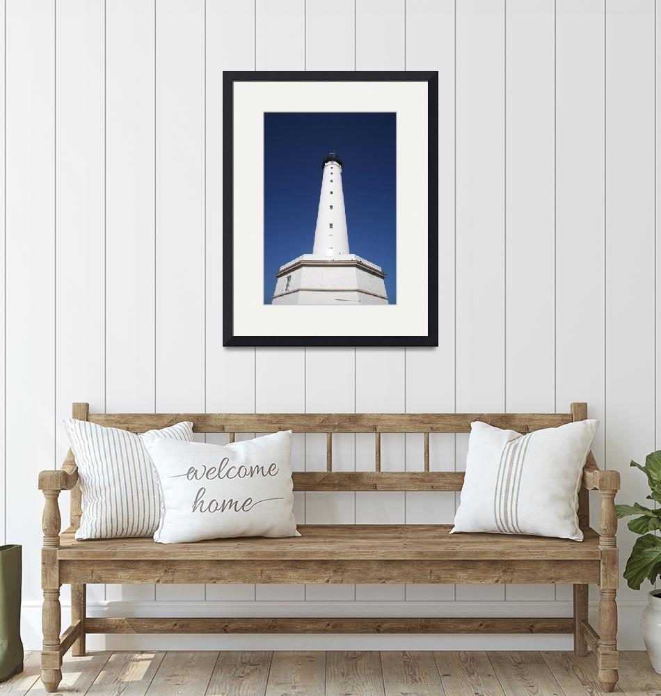"""biarritz lighthouse""  (2009) by hardman"