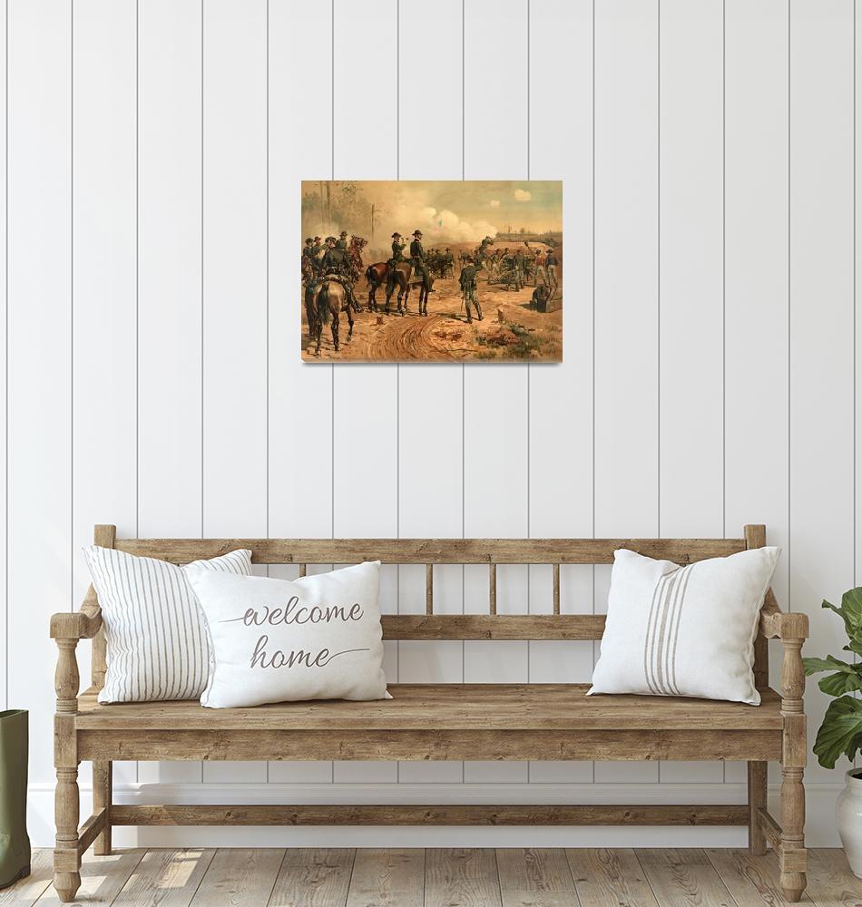 """Civil War Siege of Atlanta by Thure de Thulstrup (""  by ArtHistory"