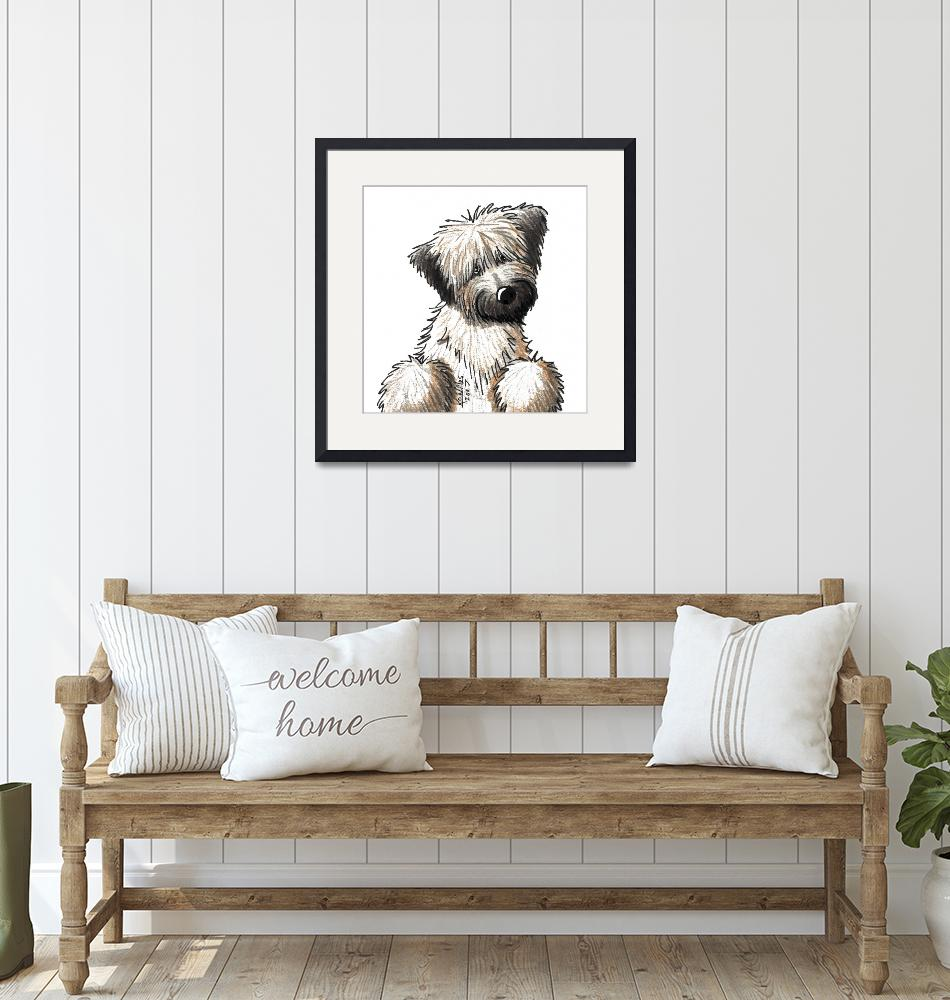 """Soft Coated Wheaten Terrier"" (2007) by KiniArt"