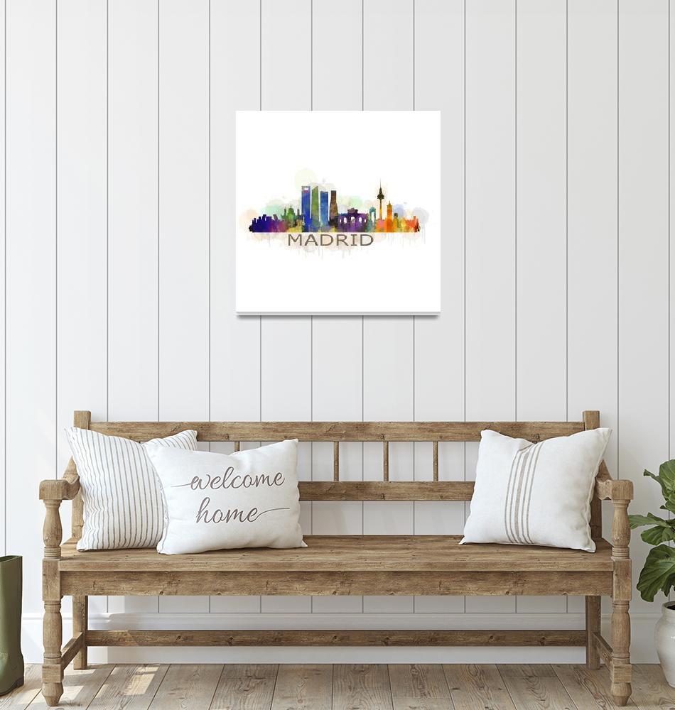 """Madrid Spain Skyline cityscape""  by HQPhoto"