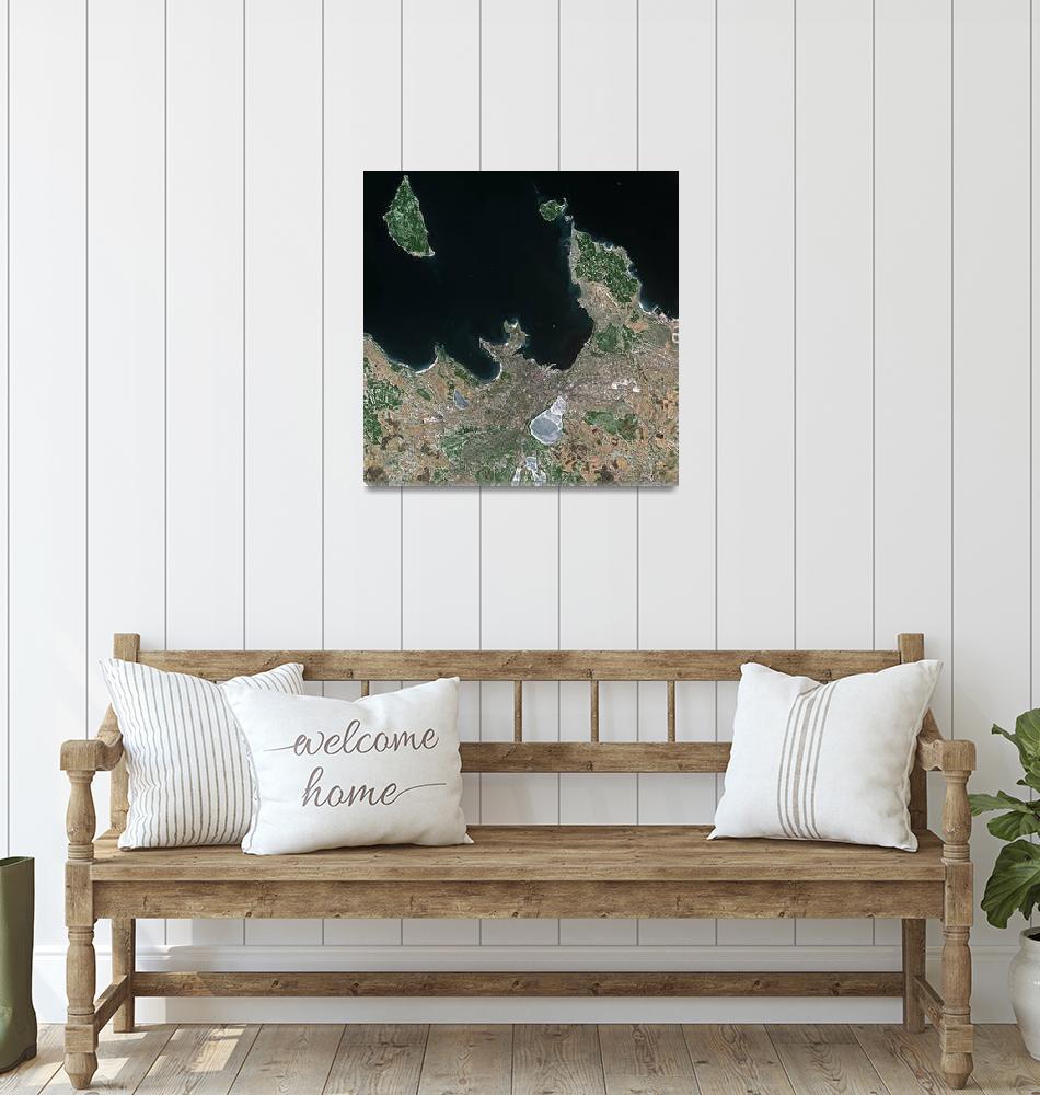 """Tallinn (Estonia) : Satellite Image""  (2004) by astriumgeo"