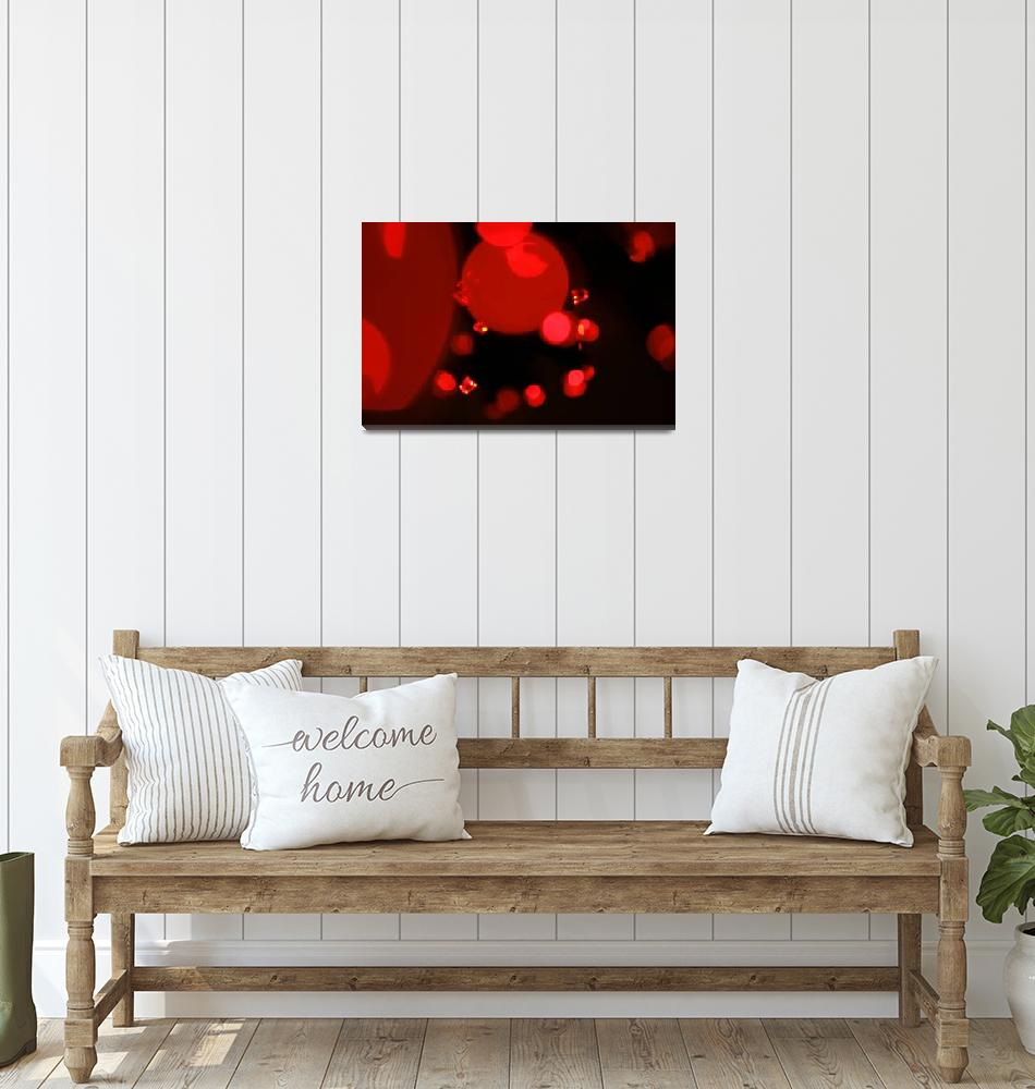 """""""Little Red Lights Abstract Art to Buy""""  (2010) by tobiphoto"""