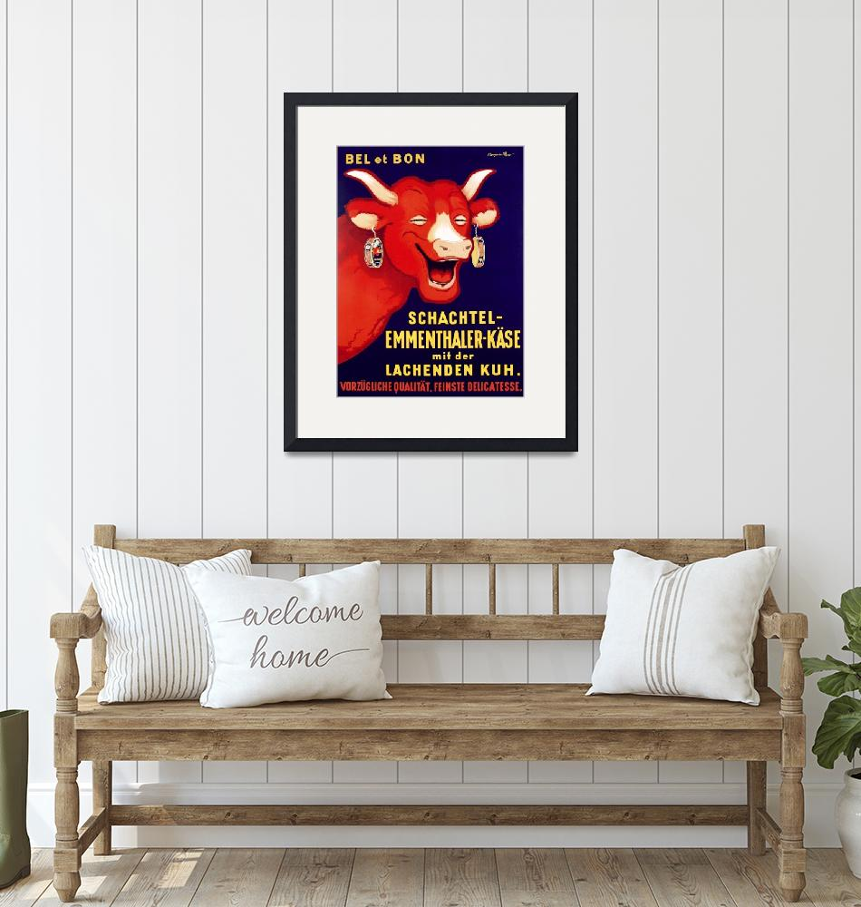 """Laughing Cow Cheese Vintage Poster""  by FineArtClassics"