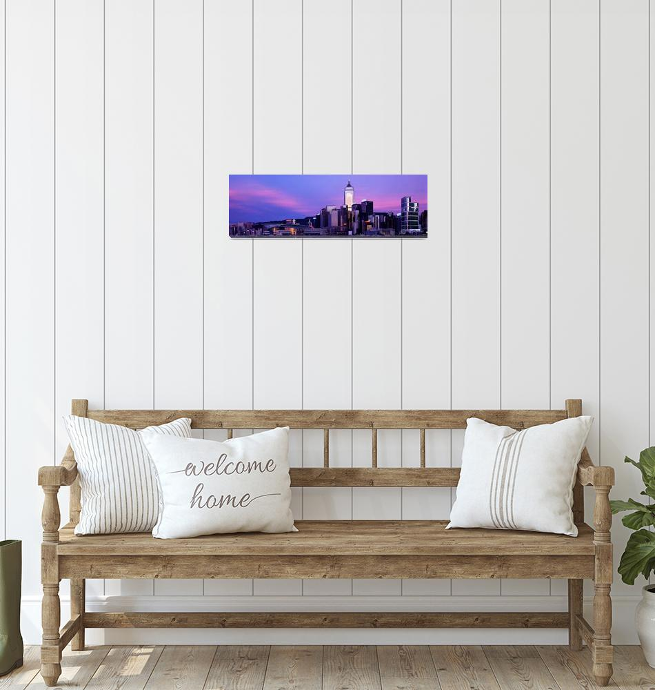 """Sunset Skyline Hong Kong China""  by Panoramic_Images"