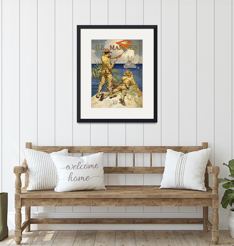 """WW 1 MARINE POSTER""  (1918) by homegear"