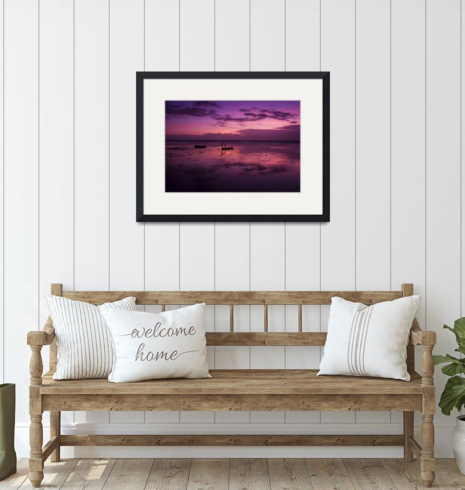 """""""Dunraven bay sunset""""  (2008) by Inyunyyn"""
