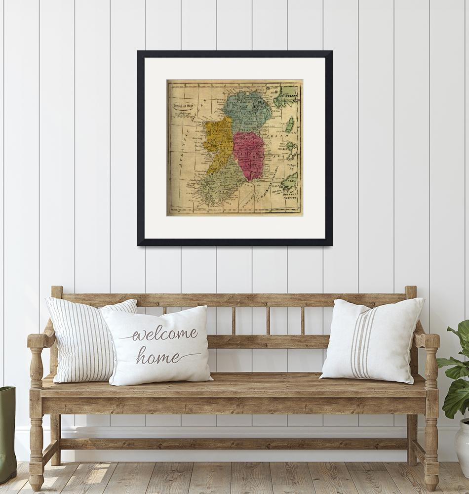 """""""Vintage Map of Ireland (1808)""""  by Alleycatshirts"""