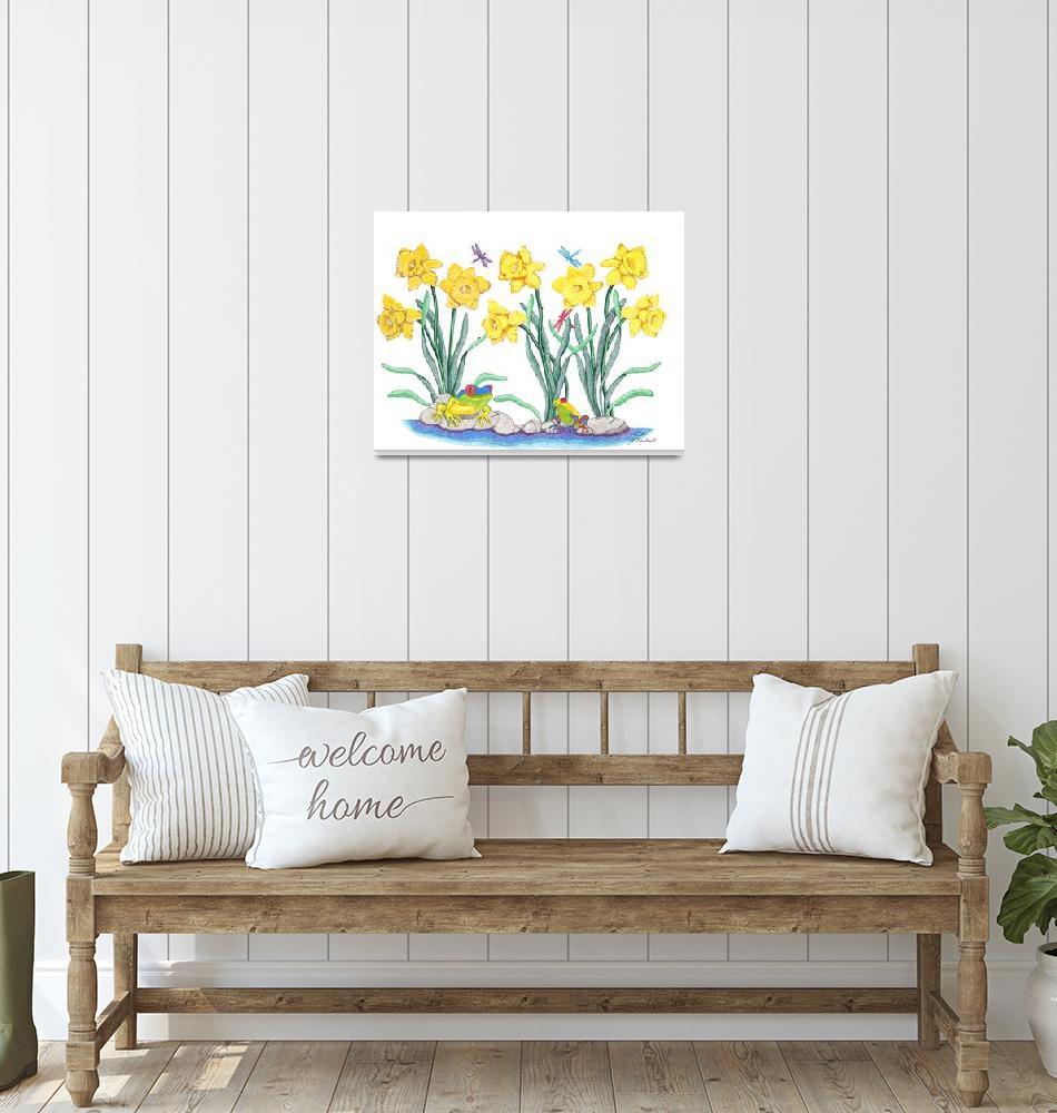"""Daffodil Parade""  (2006) by ArtbyJudyNewcomb"