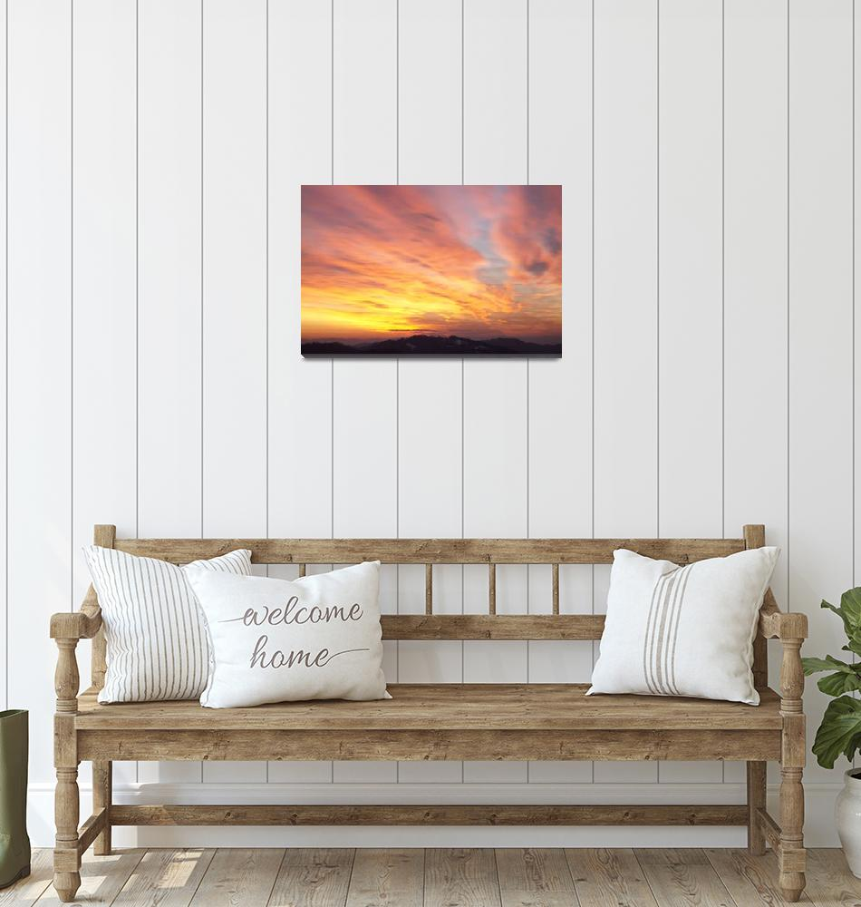 """""""flaming sunset""""  (2012) by IanMiddletonphotography"""