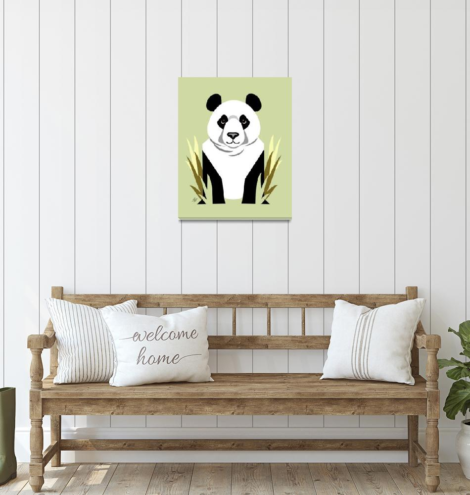 """Giant Panda""  by waterart"
