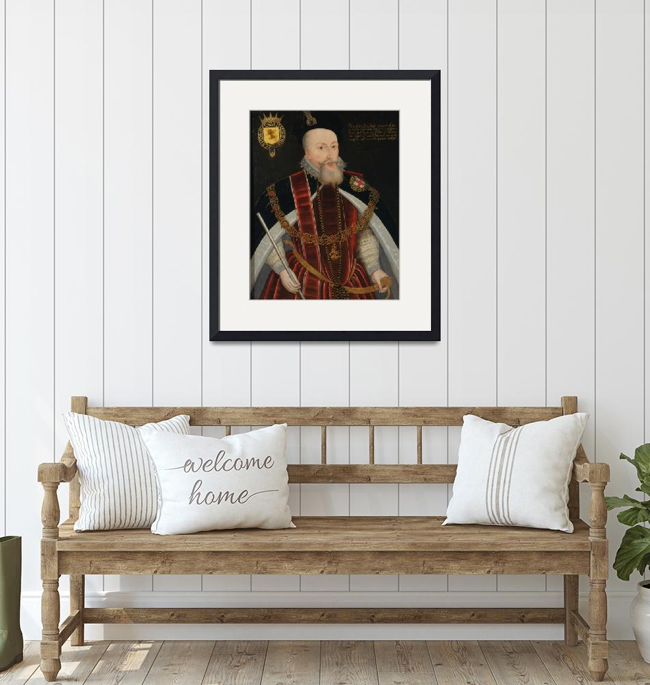 """Unknown artist~Robert Dudley, Earl of Leicester""  by Old_master"