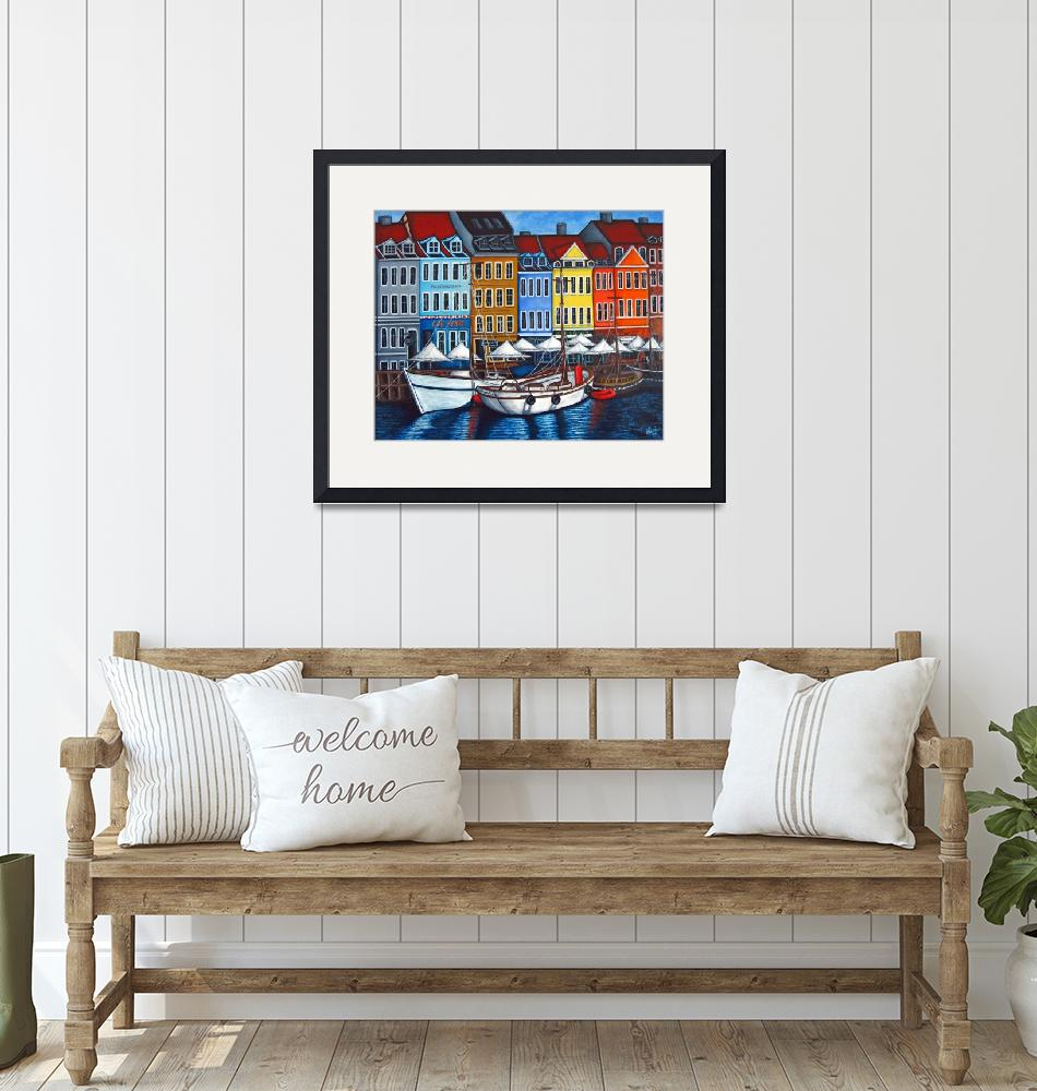 """Colors of Nyhavn II""  (2007) by LisaLorenz"