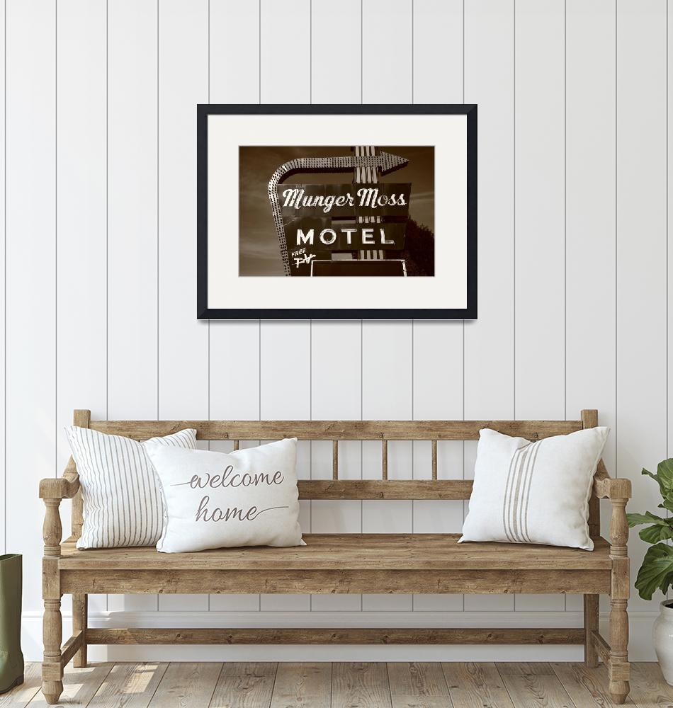 """""""Route 66 - Munger Moss Motel""""  (2010) by Ffooter"""