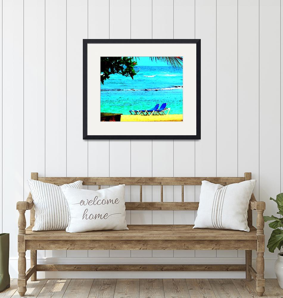 """Caribbean Sea Backyard""  (2010) by Caribbean-Digital-Art"