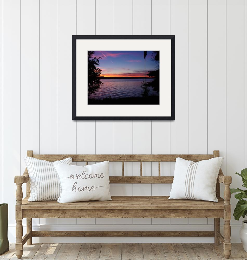"""""""Torch Lake Sunset""""  (2007) by neyer"""