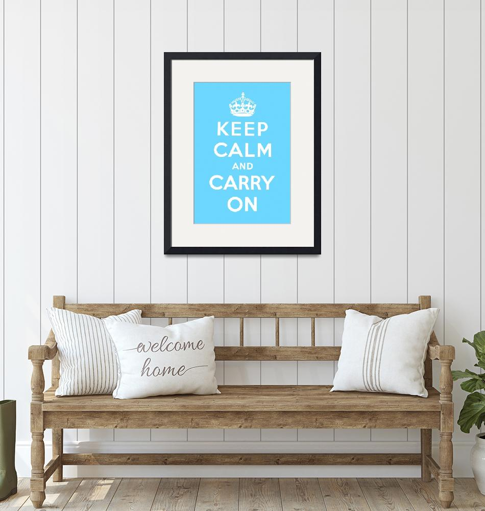 """""""Blue Keep Calm And Carry On 6""""  by oldies"""