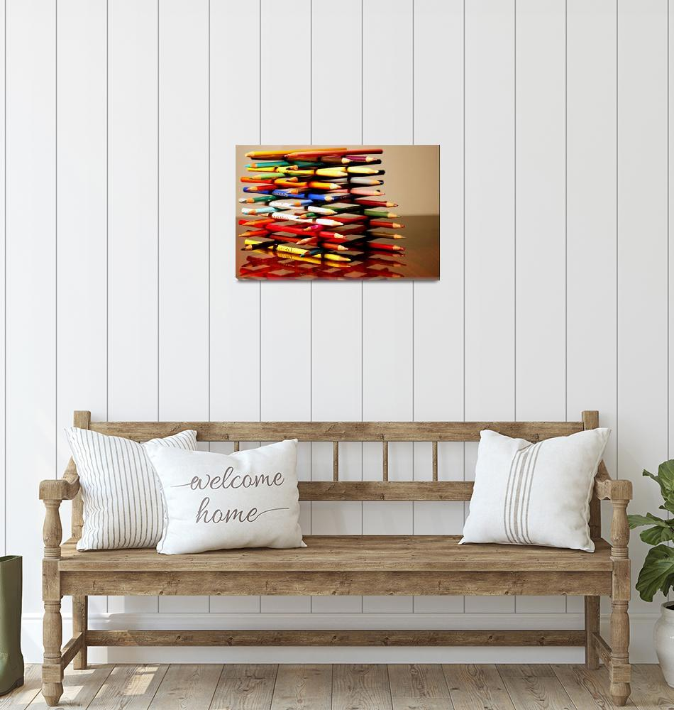 """""""Colored Pencil Jenga""""  by michal"""