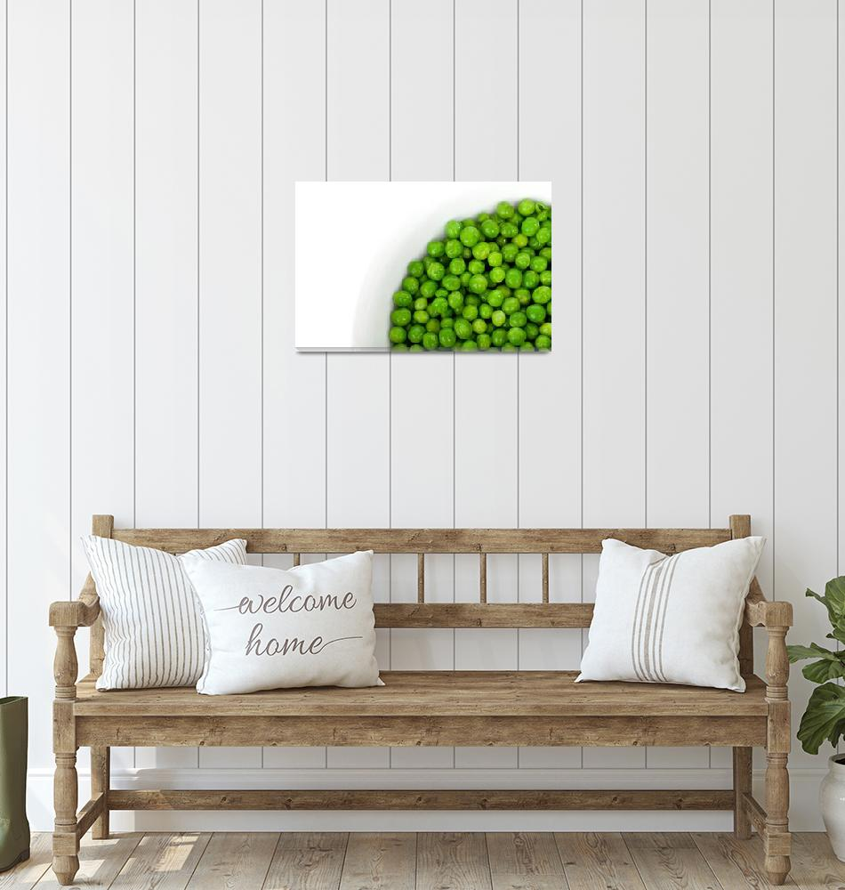 """Green Peas in Bowl""  (2011) by ArgosDesigns"