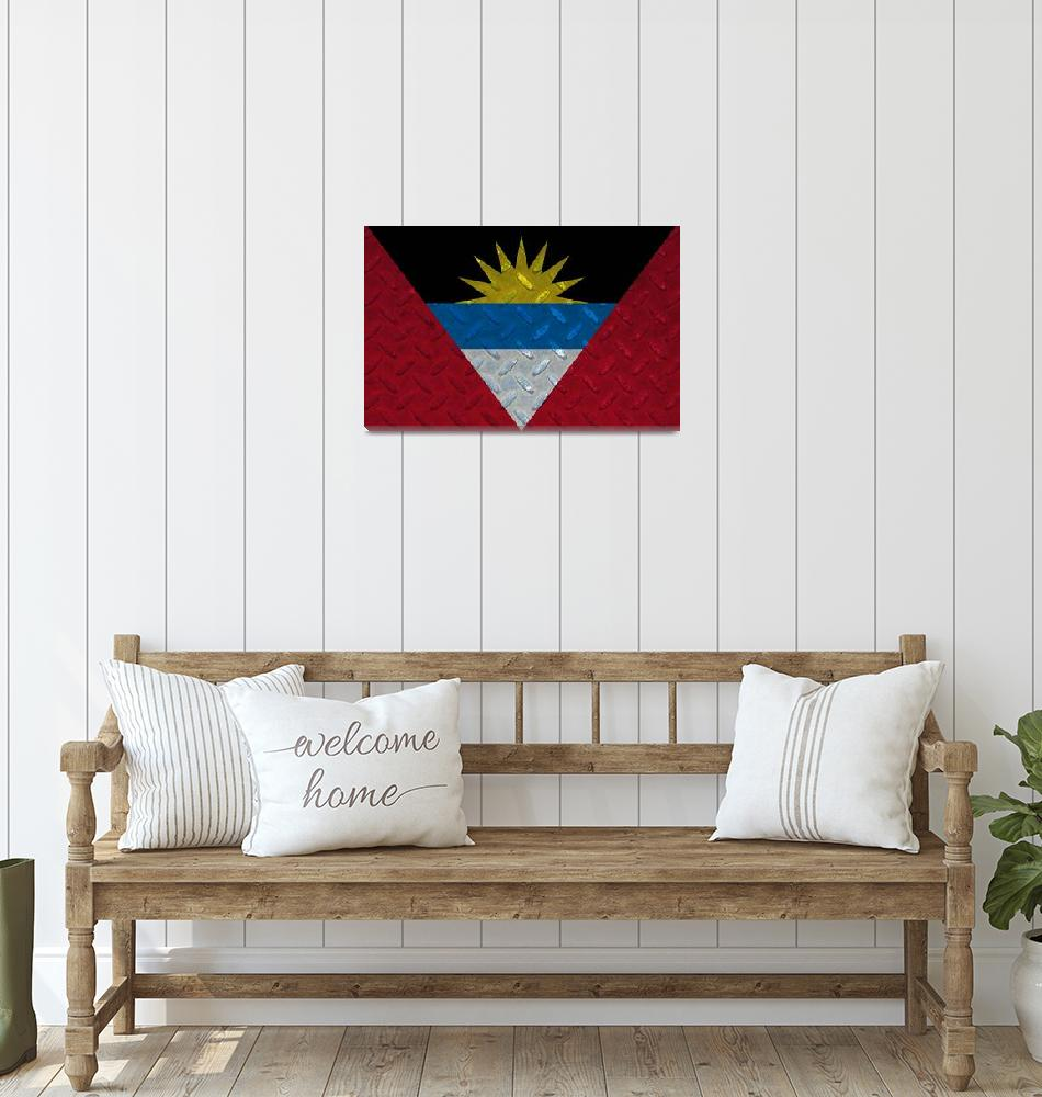 """ANTIGUA AND BARBUDA-FLAG 2""  (2014) by thegriffinpassant"