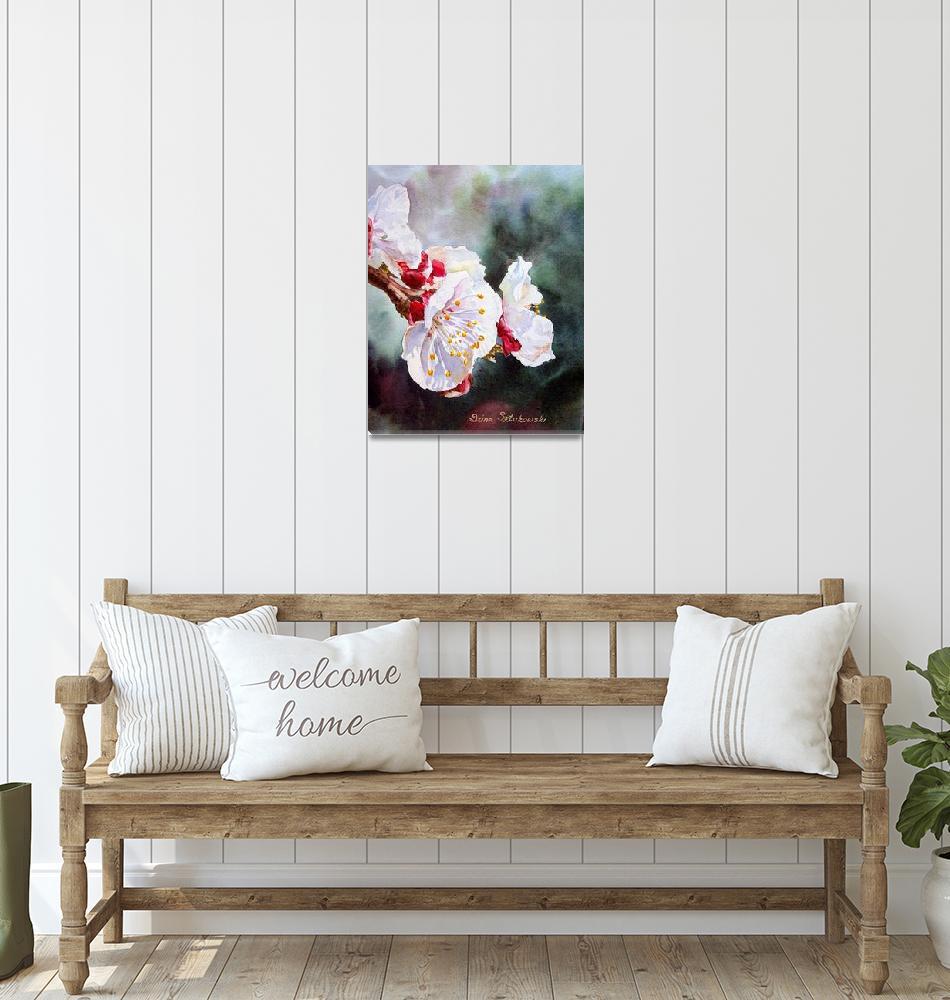 """""""Apricot Flowers""""  by IrinaSztukowski"""