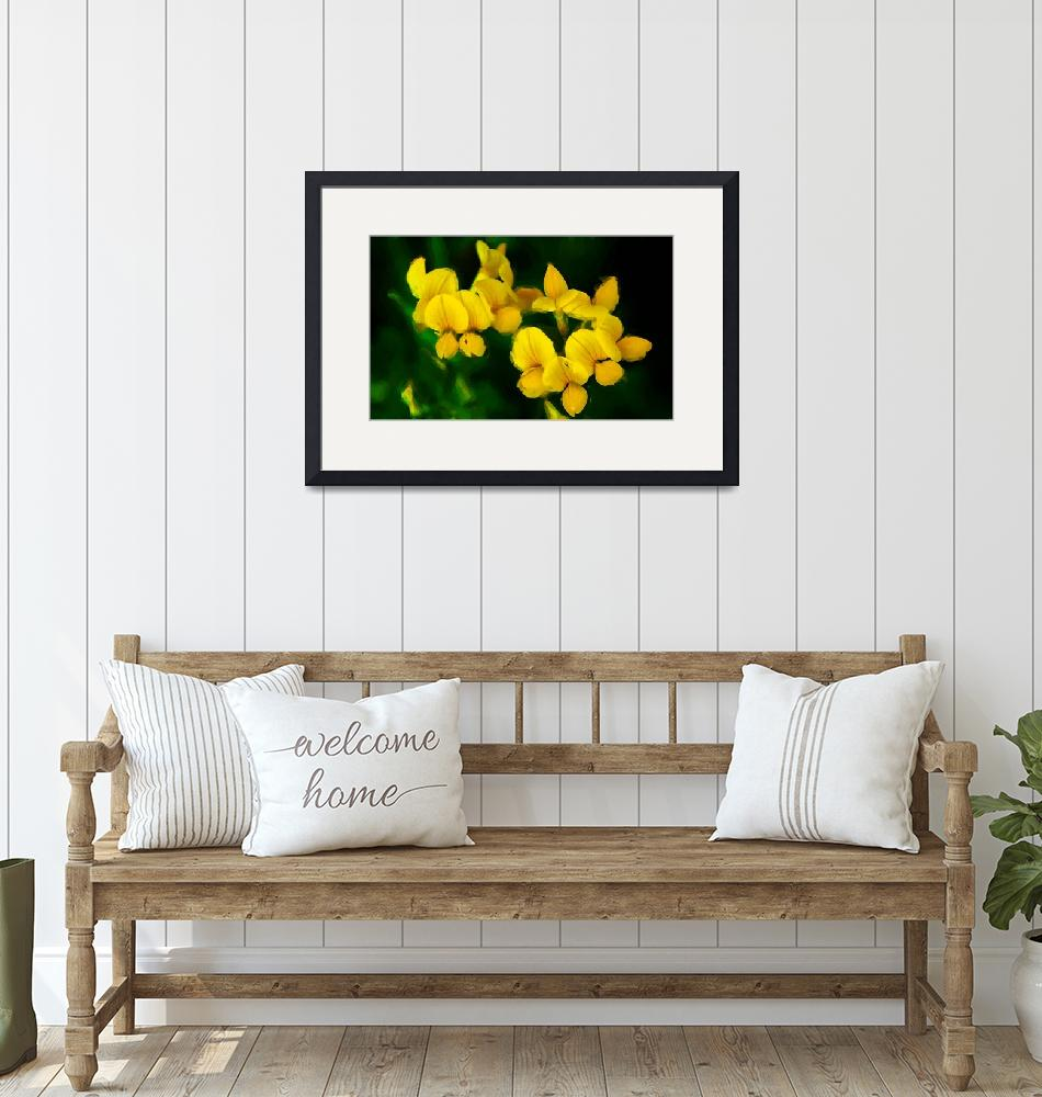 """""""Yellow Flowers_Painting""""  (2008) by BuddhabellyDave"""
