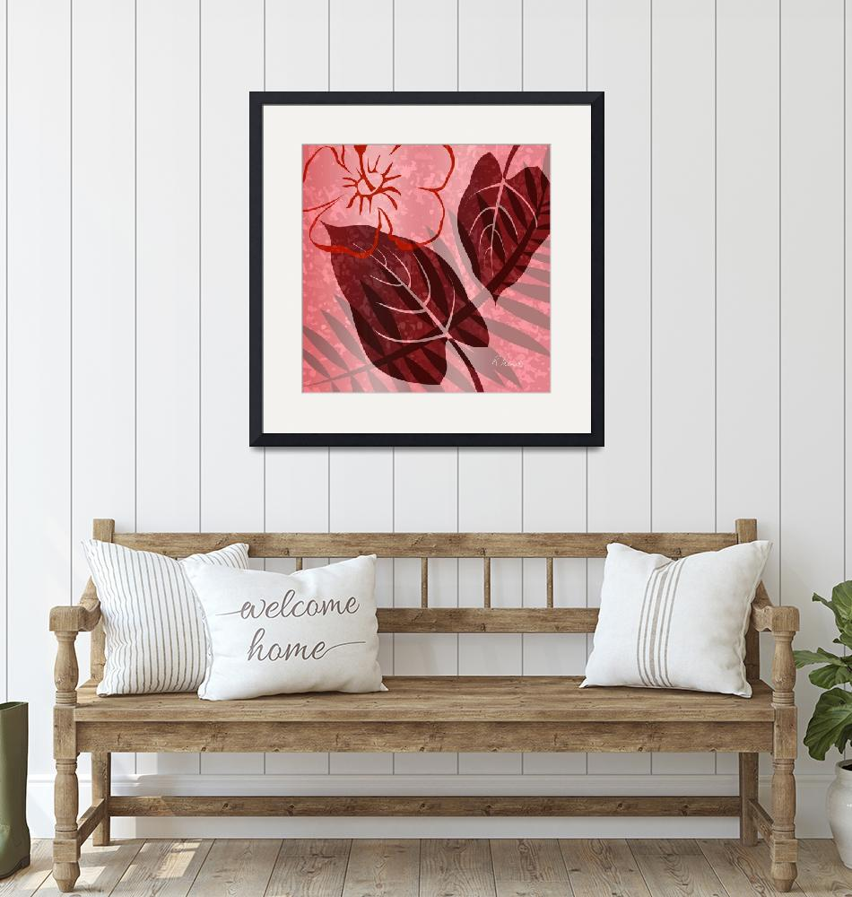 """""""Pink Poster Floral""""  (2011) by RuthPalmer"""