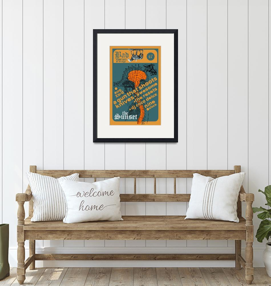 """""""The Sunset 082307 Gig Poster""""  by nifty"""