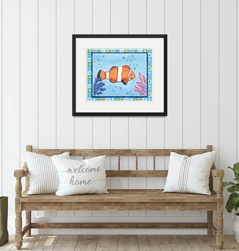 """""""Clown Fish (with border)"""" (2008) by Littlepig"""