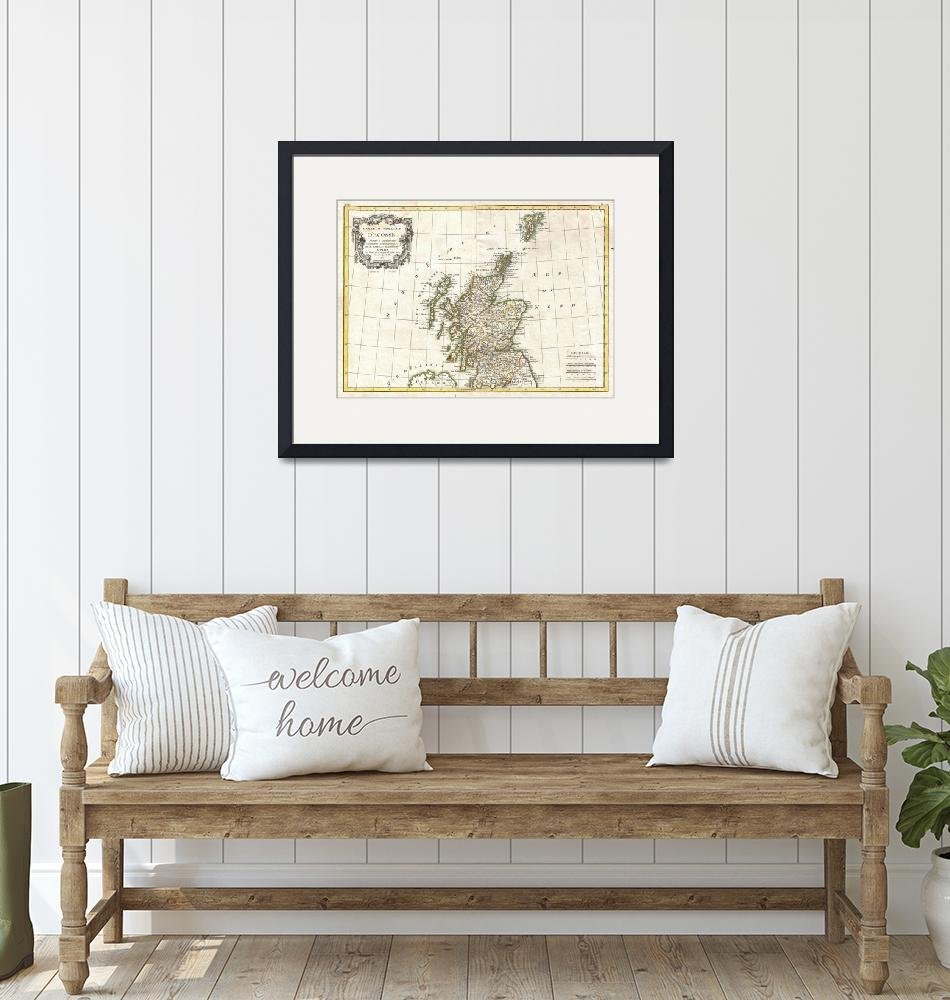 """Vintage Map of Scotland (1772)""  by Alleycatshirts"