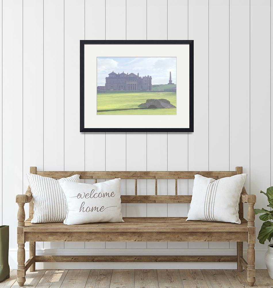"""""""Clubhouse and Bridge - St Andrews Old Course Golf""""  (2010) by leuchars"""