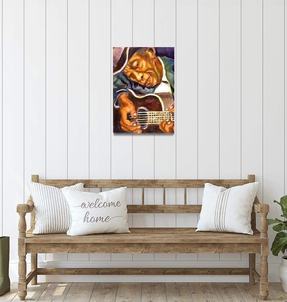 """""""Guitarman""""  (1994) by artistfaye"""