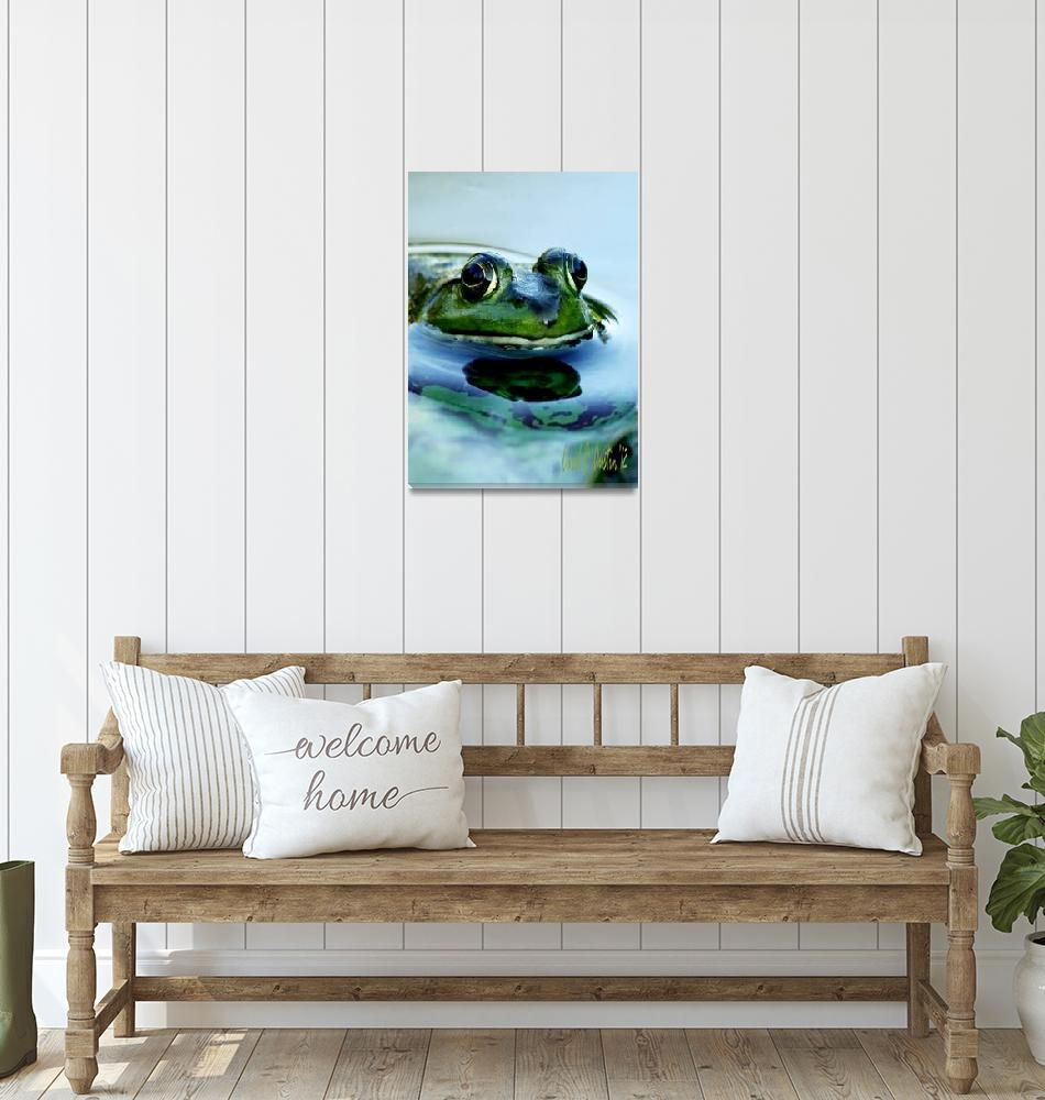 """Frog Watching You Watching Me""  (2011) by PhotographsByCarolFAustin"