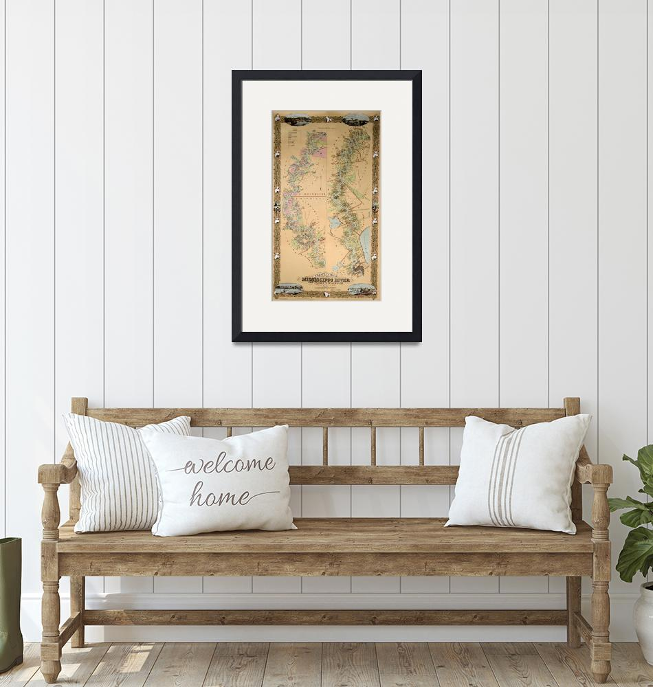 """""""Map depicting plantations on the Mississippi River""""  by fineartmasters"""