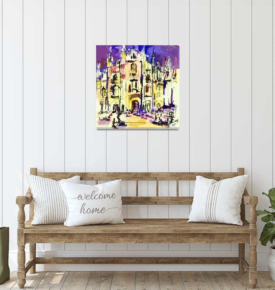 """""""Italy Milano Cathedral Modern Art""""  (2013) by GinetteCallaway"""
